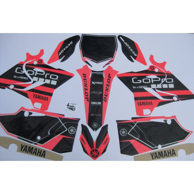 kit déco Gopro YZ Rose fluo 125-250