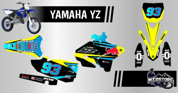 Kit Perso YZ / YZF / WRF 65 > 450  - JAUNE FLUO -